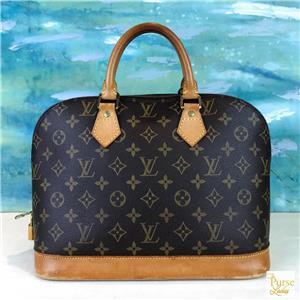 1530 LOUIS VUITTON Alma PM Brown LV Monogram Canvas Leather Satchel Bag  SALE! ecac59f705