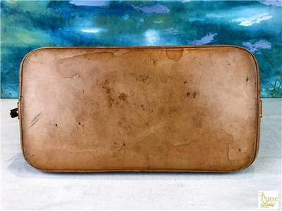 1530 LOUIS VUITTON Alma PM Brown LV Monogram Canvas Leather Satchel ... d464e661c7