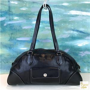 625ced5f5891 $895 PRADA Black Leather Double Pocket Zip Top Shoulder Bag Women's ...