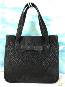 394714257664 $945 PRADA Brown Suede Leather Tote Shoulder Bag Front Bow Snap ...