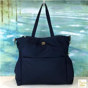 a8a258441d1  398 TORY BURCH Navy Blue Nylon Large Travel Baby Diaper Bag Multi-Pocket  SALE!