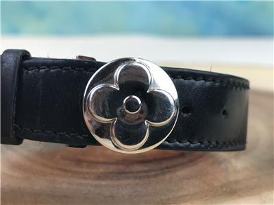 bfecd211f515  325 LOUIS VUITTON Wish Black Monogram Embossed Leather Bracelet ...