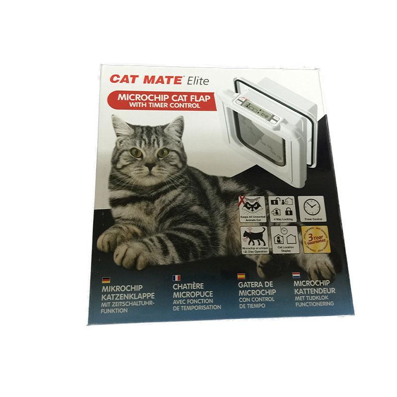 Cat Mate Elite Super Selective Cat Flap White Color 4way