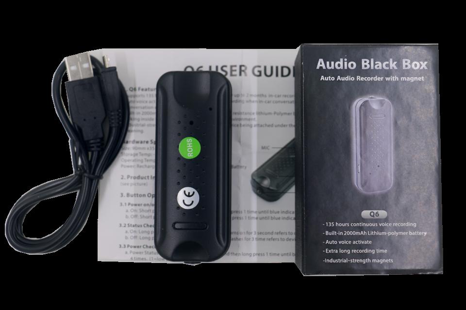 Digital Voice Recorder Q6 Mini Auto Voice Activated Anti Theft Spy