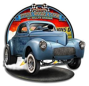 Bay Area Gassers Cast Aluminum Car Club Plaque sign gasser hot rat street rod