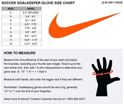 campana plataforma Masaje  nike football gloves size chart Cheaper Than Retail Price> Buy Clothing,  Accessories and lifestyle products for women & men -
