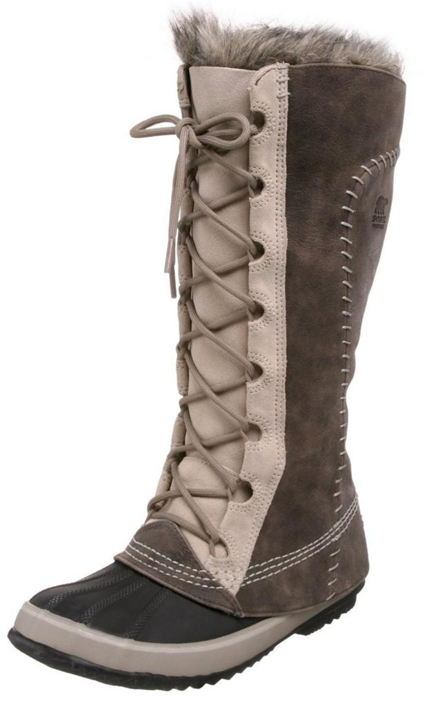 Sorel Cate The Great Tusk Fur Lined Lace Up Knee High Duck Boot Waterproof Ebay