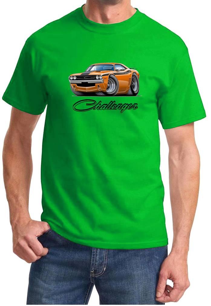1971 Dodge Challenger Rt Muscle Car Art Cartoon Tshirt New