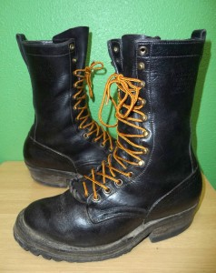 nicks handmade boots nick s handmade black leather logger packer firefighter 5924