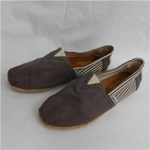 a1168fc0bb3 Toms Mens Brown Classic Rope Sole Slip On Espadrilles M9 Size 8 UK ...