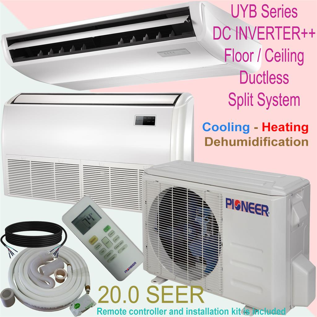 18000 Btu 1 189 Ton Pioneer Inverter Floor Ceiling Ductless