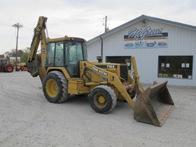 John Deere 710D 4x4 Tractor Loader Backhoe with Erops 4000 Hours