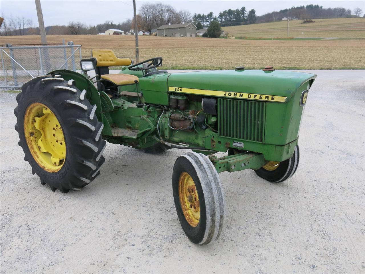 john deere 820 antique open station tractor diesel 1800. Black Bedroom Furniture Sets. Home Design Ideas