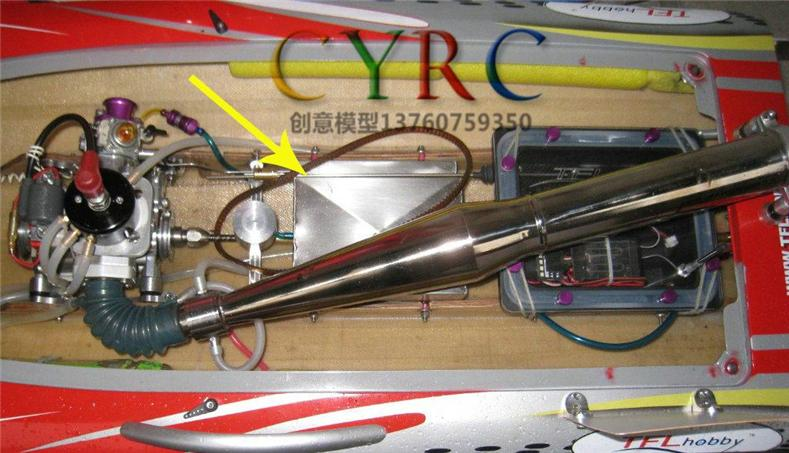 Gas Boat Rcing  profession fuel tank stainless steel