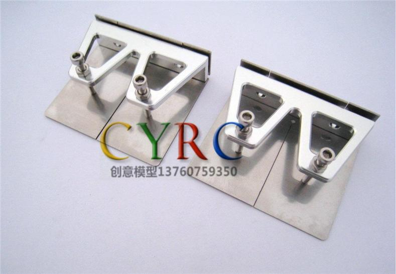 Aluminum Trim Tabs with Stainless Steel Plates 48x57 mm RC boat