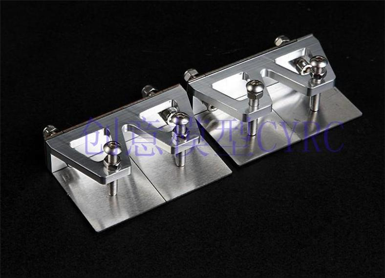 Aluminum Trim Tabs with Stainless Steel Plates 50x76 mm RC boat