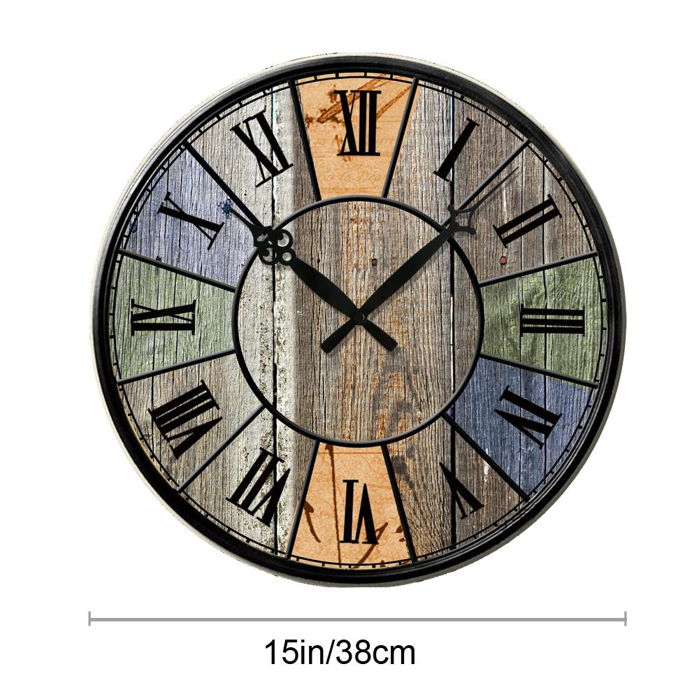 Colorful Shabby Vintage Style Chic Wooden Wall Clock