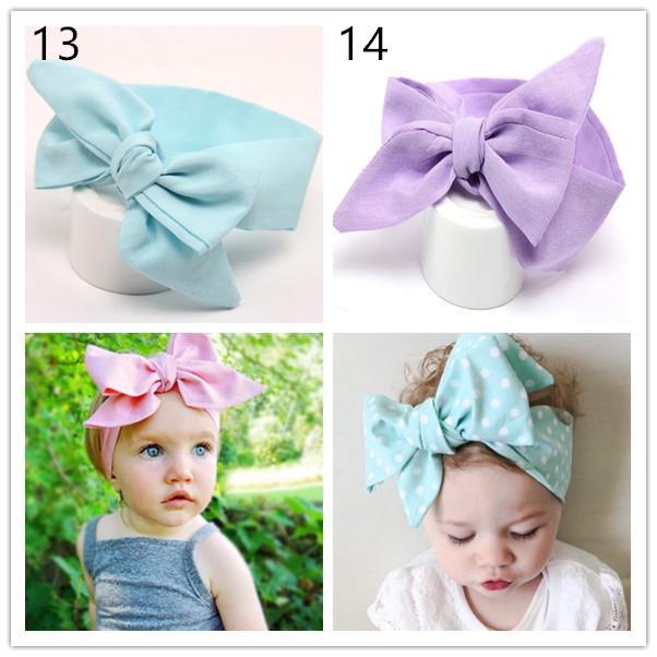 Baby Cotton Big Bow Tie Head Wrap Turban Top Knot Headband Newborn