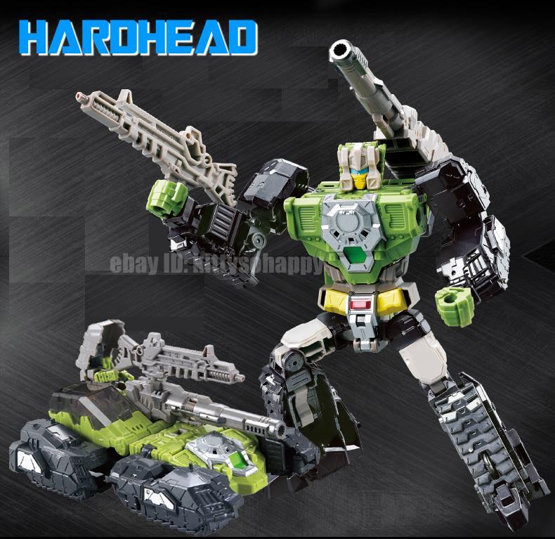 """Kids Gift Toy Metal Parts Robot The Headmasters Skullcruncher 8/"""" Action Figure"""