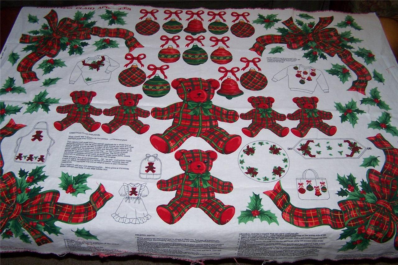CRANSTON VIP SCREN PRINT FABRIC PANEL CHRISTMAS PLAID