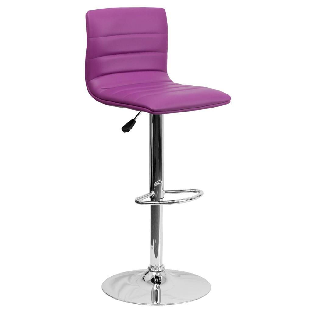 Pair Adjustable Seat Swivel Kitchen Chair