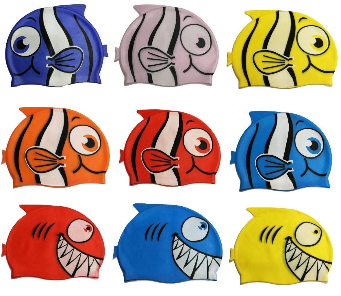 Enfants enfants natation Pool Shark poisson Cartoon bouchon Silicone Swim  chapeau imperméable à l eau 21777f01ac2