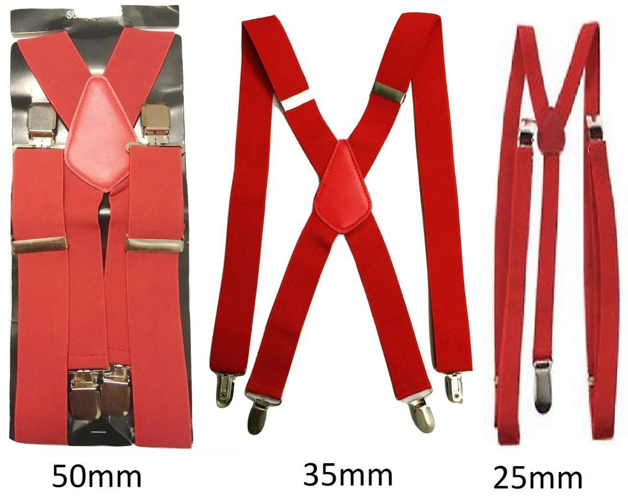 Herren Hosentr/äger 2,5 cm elastisch verstellbar Y-R/ücken Clip-on Strapse