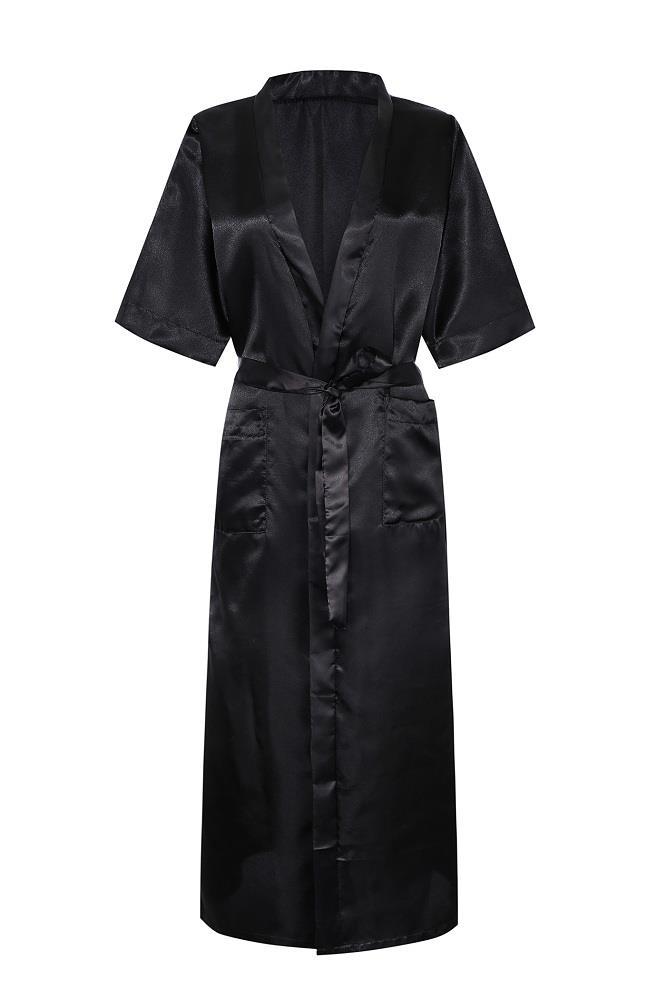 femmes sexy long kimono soie peignoir robe de chambre lingerie nuisette nuit. Black Bedroom Furniture Sets. Home Design Ideas