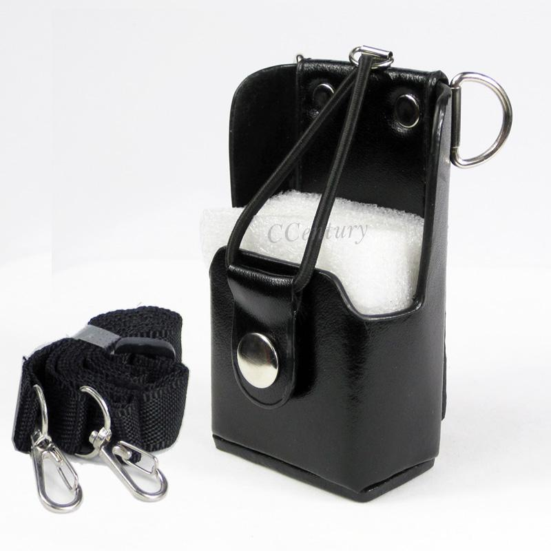 Radio Hard Leather Case Holster For Midland Baofeng Wouxun