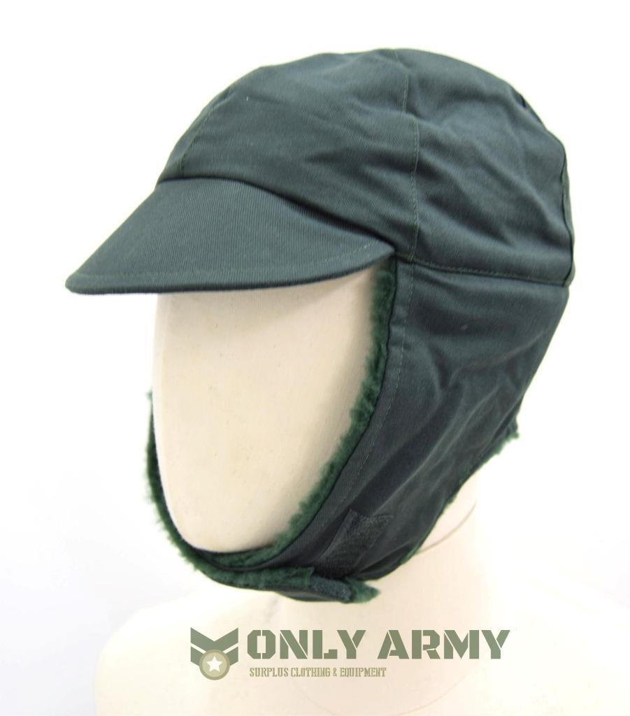 Details about #2 Dutch Military Cold Weather Hat Winter Trapper Olive Green  Army Surplus NEW