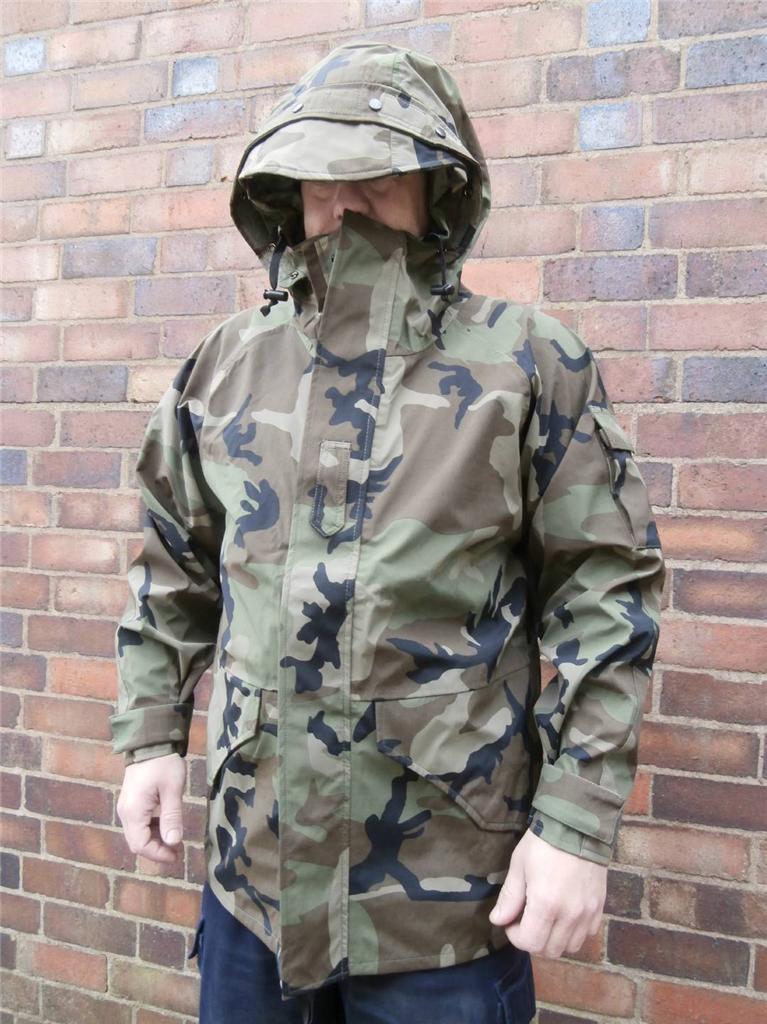 Us Army Woodland Camo Cold Weather Parka Goretex Jacket