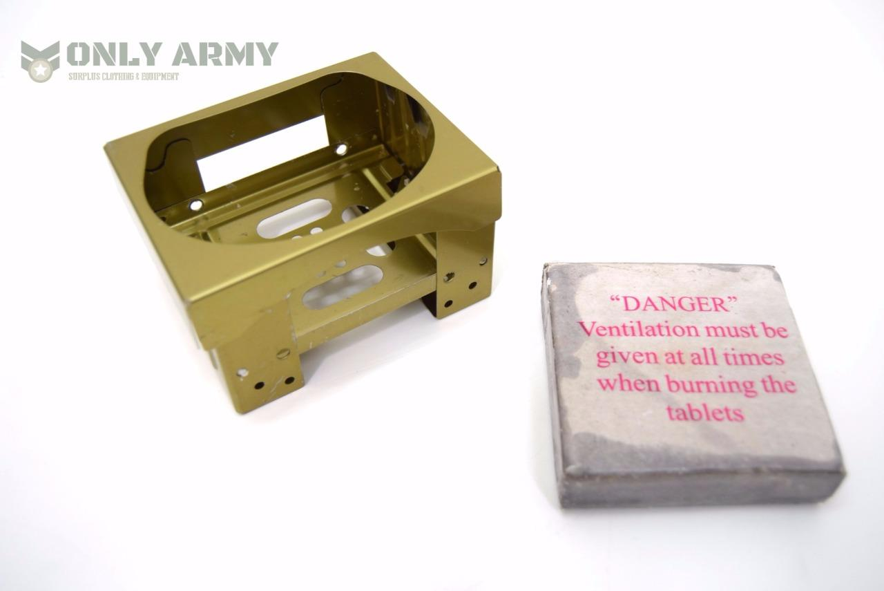 BRITISH ARMY ISSUE BCB OPERATIONAL RATION HEATER STOVE AND DRAGON FUEL BLOCKS.