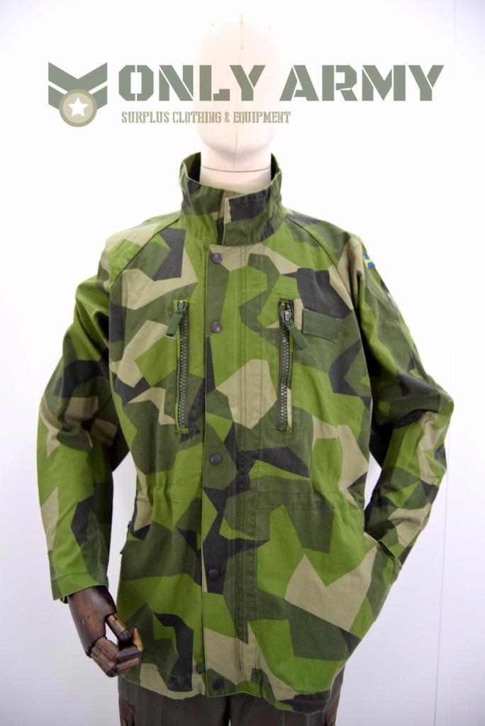 Us Army Surplus >> Original Swedish Army M90 Jacket Splinter Camouflage Field Combat Military Camo | eBay