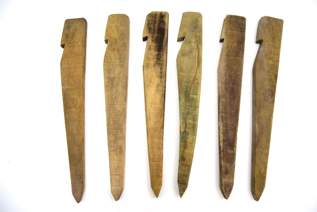 Details about Vintage British Army Wooden Pegs 50cm Tent Peg Wood Large Arctic Storm Peg Stake
