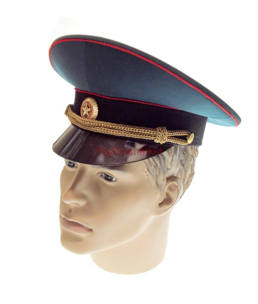 39f49d3e5 Details about Russian Army Officer's Peaked сap statutory crown Military  Hat Uniform Badge