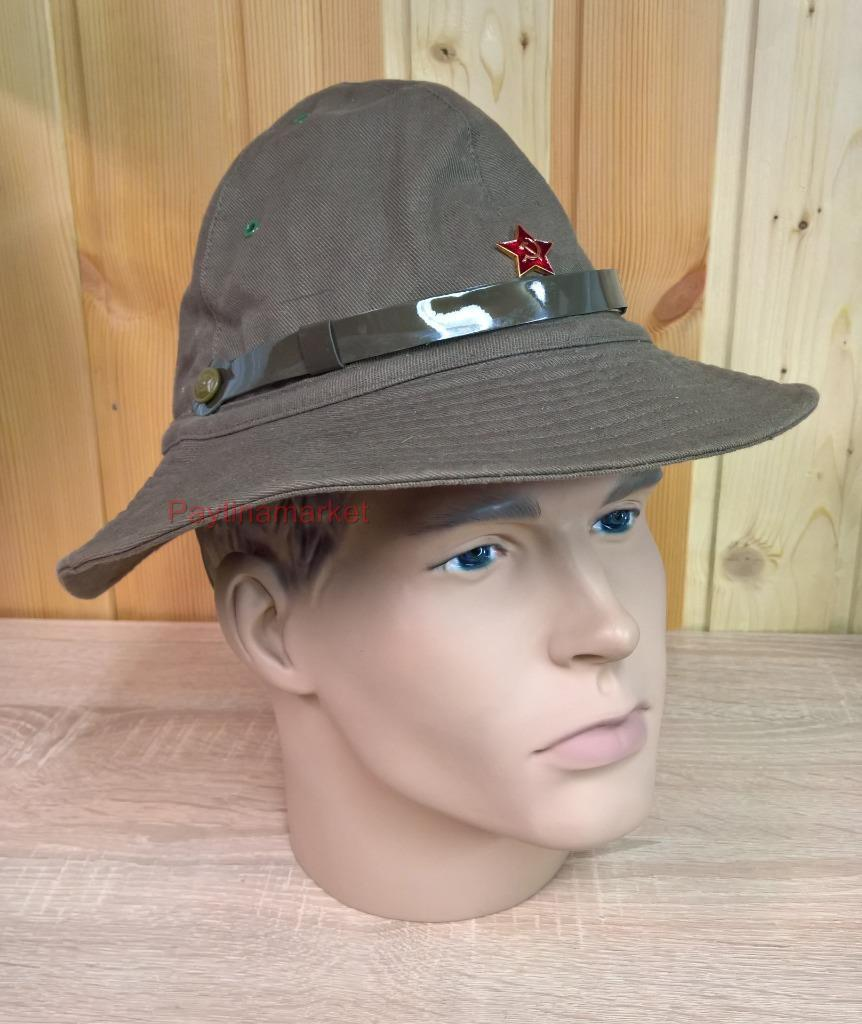 ab4cca82d Details about Russian Panama Afghanka Glass Military Soviet Red Army USSR  Soldier Hat Uniform