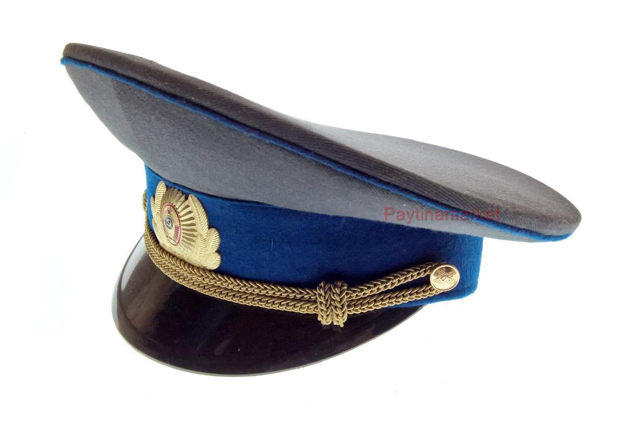 b88e2adb6 Details about Russian Army Peaked cap Police Officer Soviet Union Military  Hat Badge USSR