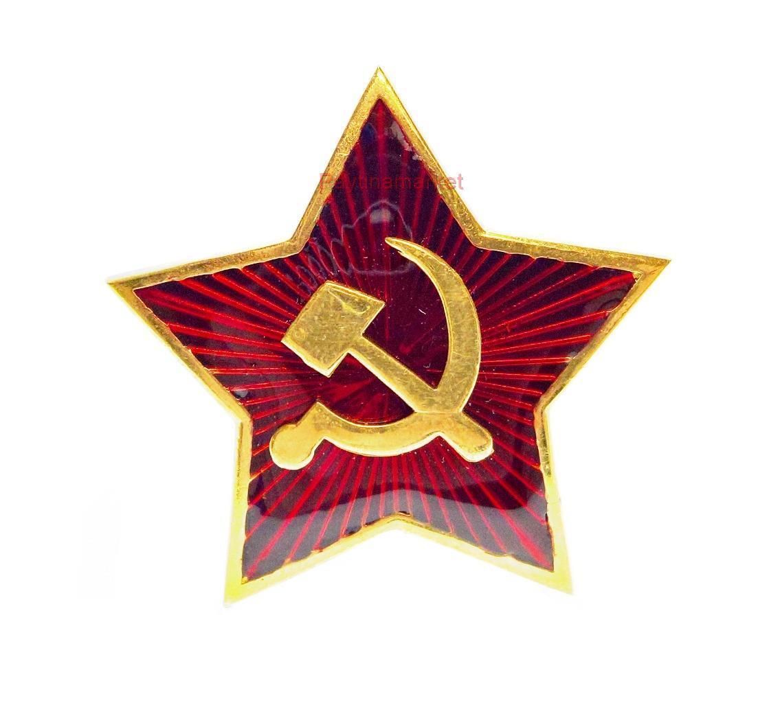 Soviet USSR Russian Army Red Star Hat Enamel Metal Pin Badge #10