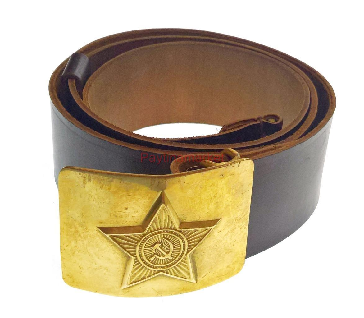 Russian army original leather belt,russian military belt,russian soldier belt