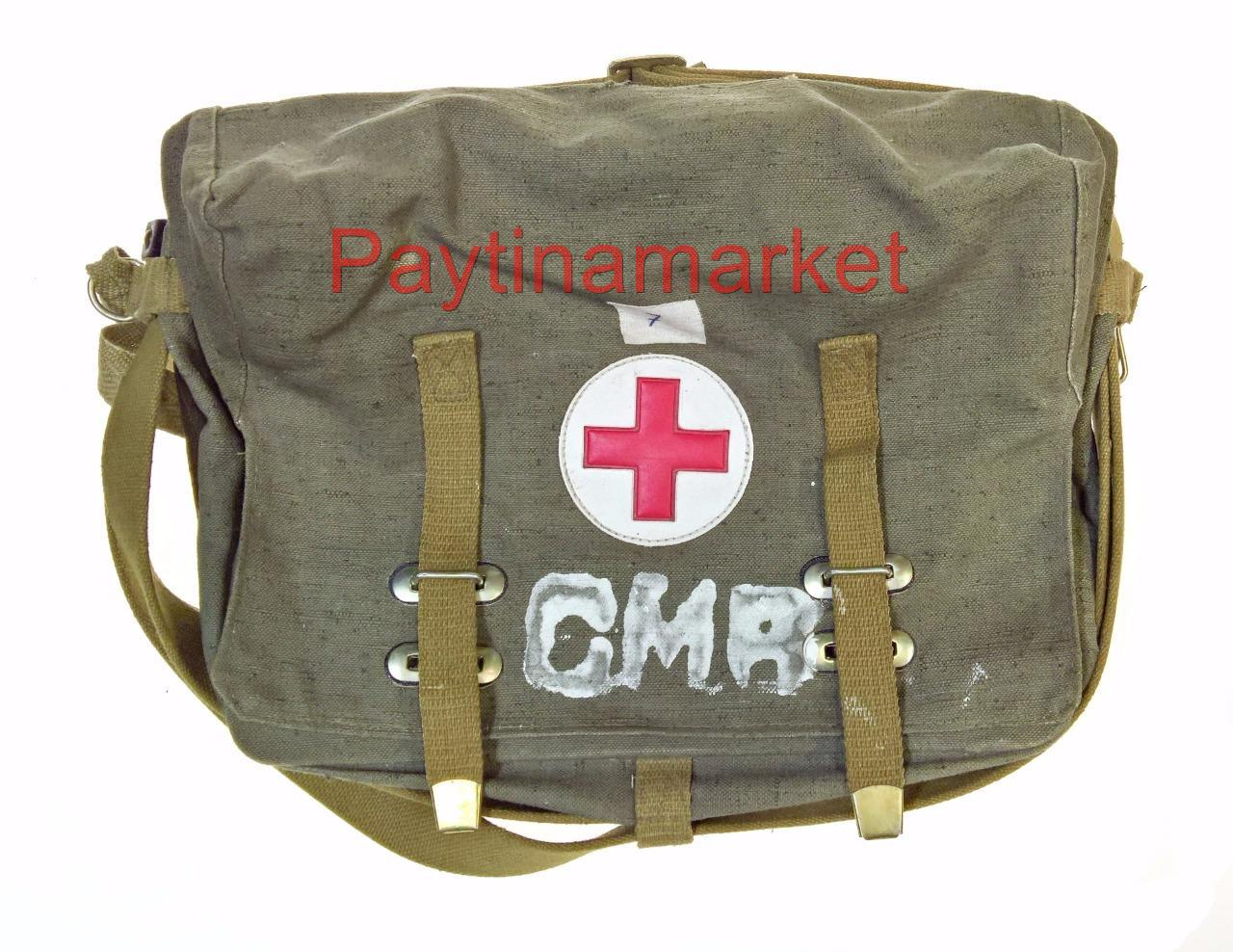 Medical Bag Russian Military Ussr Soviet Army Vintage Medic First Aid Red Cross
