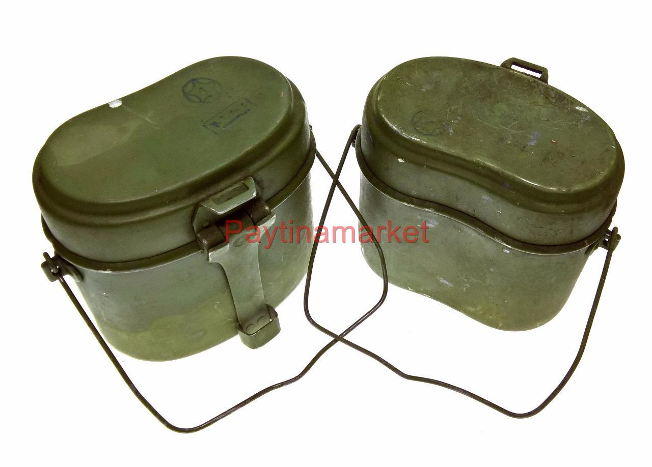 Russian Army Ussr Mess Kit Military Lunch Box Canteen Kettle Soldier Set 3 items