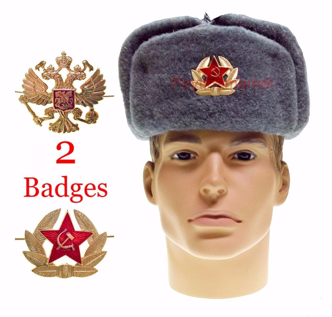 a6a007839 Details about Ushanka Military Winter Hat Soldier Russian Army Soviet Cap  Warrior USSR Uniform