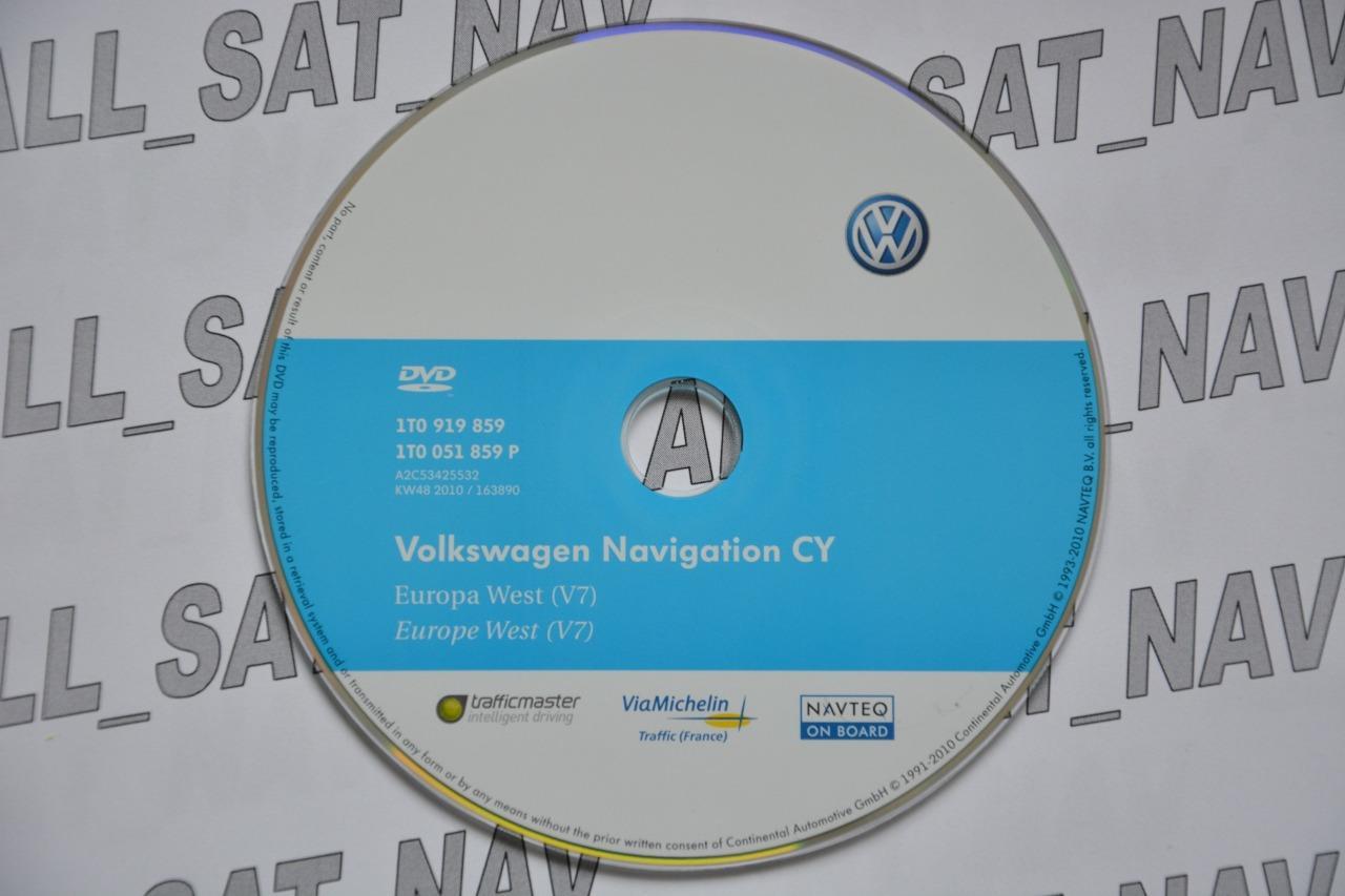 vw navigation dvd v7 rns510 rns 510 810 west europe seat. Black Bedroom Furniture Sets. Home Design Ideas