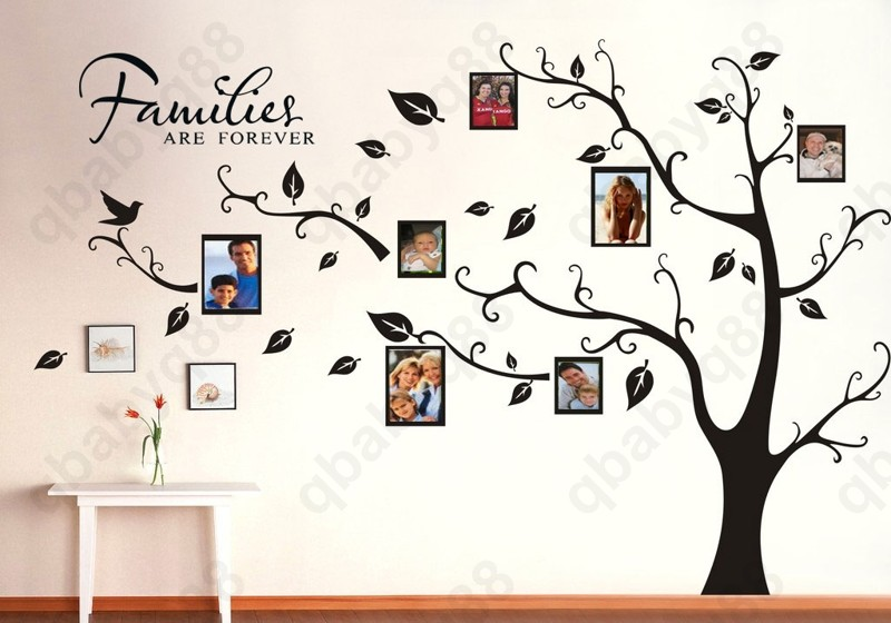 Photo Frame Family Tree Decal Wall Decals Wall Decor: Family Picture Photo Frame Tree Wall Quote Art Stickers