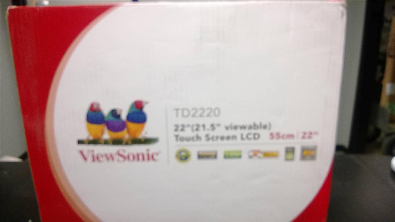 """Viewsonic TD2220 22"""" Widescreen LED LCD Monitor Built in Speakers"""