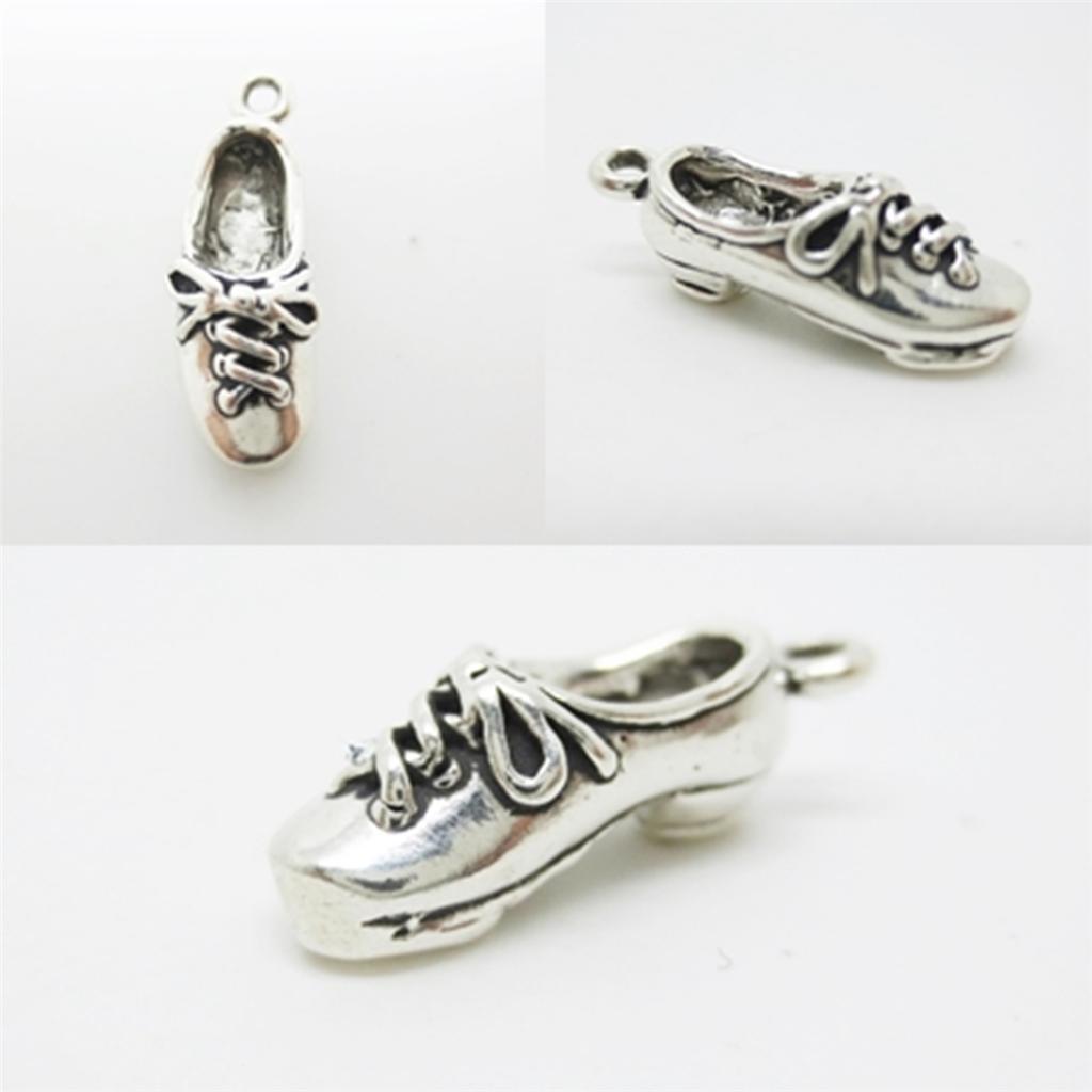 Shoe Charm Bracelet: Tap Dance Shoe Dancer 925 Sterling Silver Charm Pendant