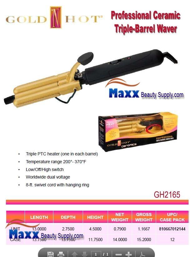 Gold N Hot Gh2165 Ceramic Triple Barrel Waver Iron 19