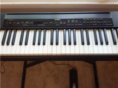 yamaha p 80 weighted 88 key digital electric piano keyboard. Black Bedroom Furniture Sets. Home Design Ideas