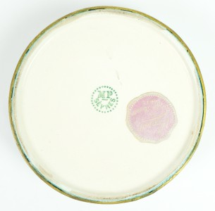 Sevres French Porcelain Round Jewelry Box w Beautiful Wedgwood Figural