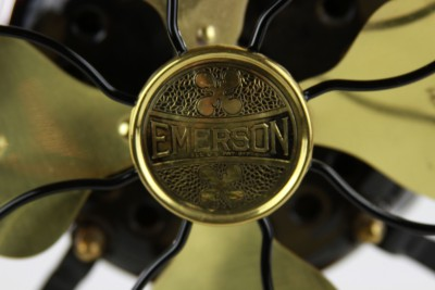 "Emerson 1920s Antique Art Deco Electric Fan ""Completely Restored"" Gorgeous"